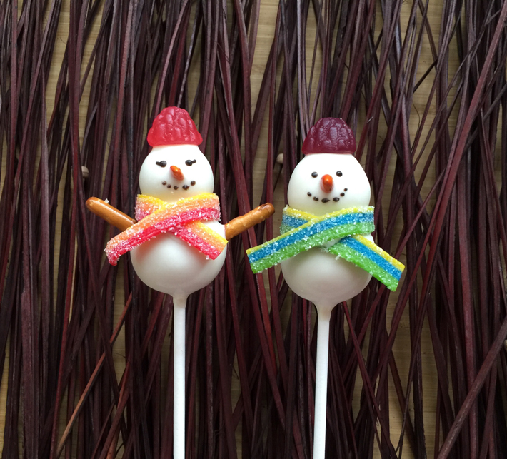 Cute Snowman Cake Pops Tutorials