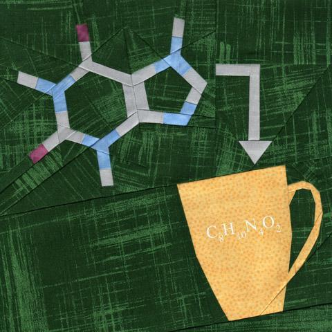 caffeine molecule quilting pattern
