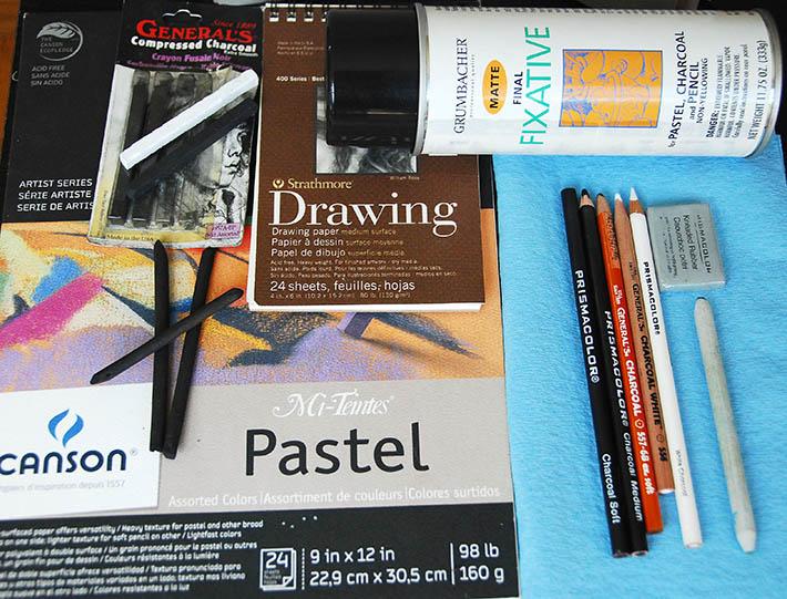 charcoal drawing tools supplies
