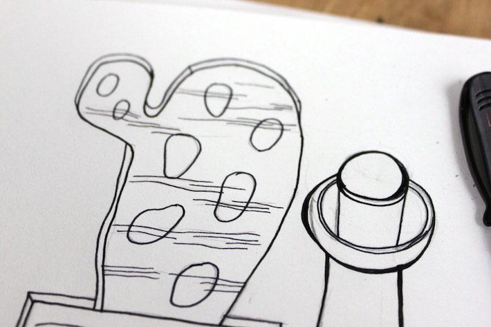 Contour line sketch  detail