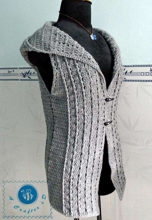 crochet hooded vest pattern