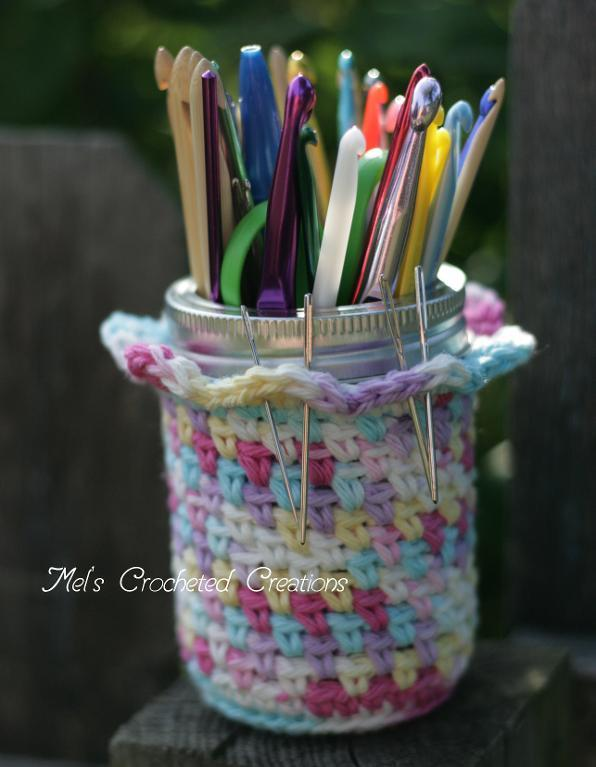 crochet hook jar