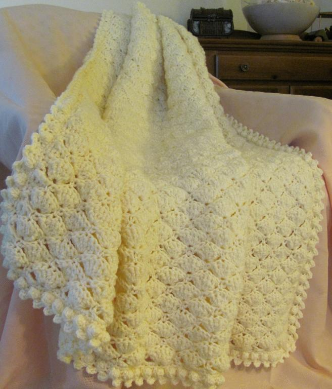 crochet shell blanket pattern