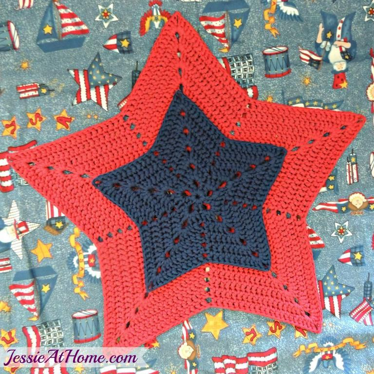 crochet star trivet free pattern