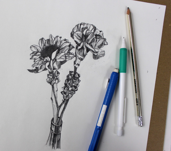 Flower drawing completed
