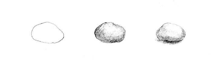 drawing rocks that are smooth