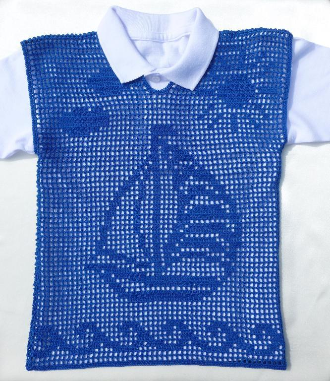 filet crochet boys vest