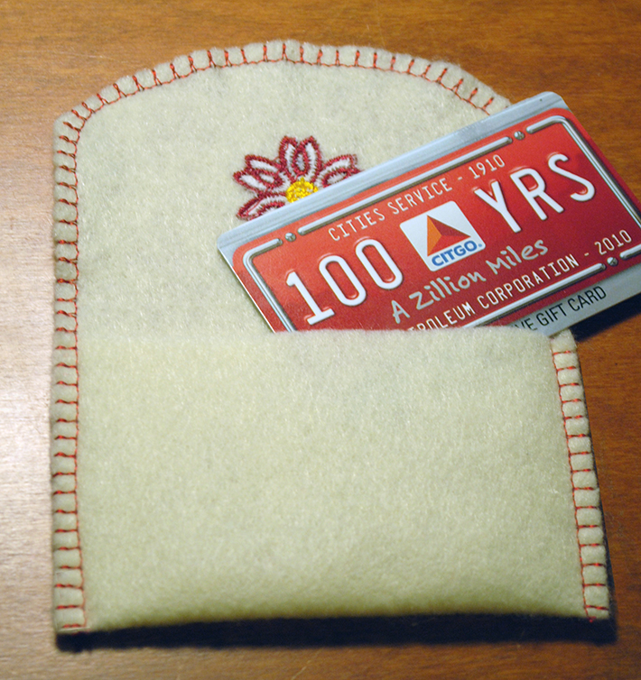 free machine embroidery gift card holder pattern inside