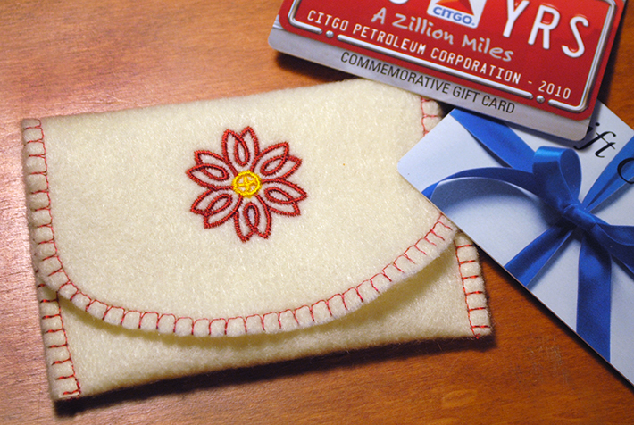 Custom Gift Card Holder: Free Pattern on Bluprint