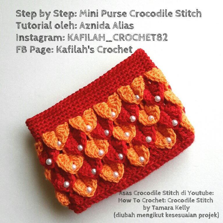 Crocodile Stitch Mini Purse