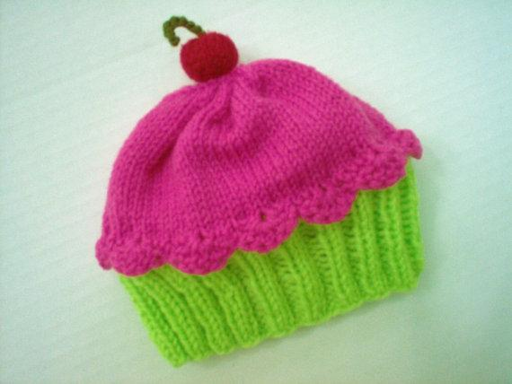 Cupcake Hat Knitting Pattern