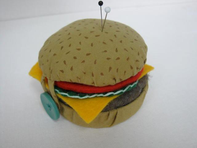 Hamburger Pincushion Sewing Pattern