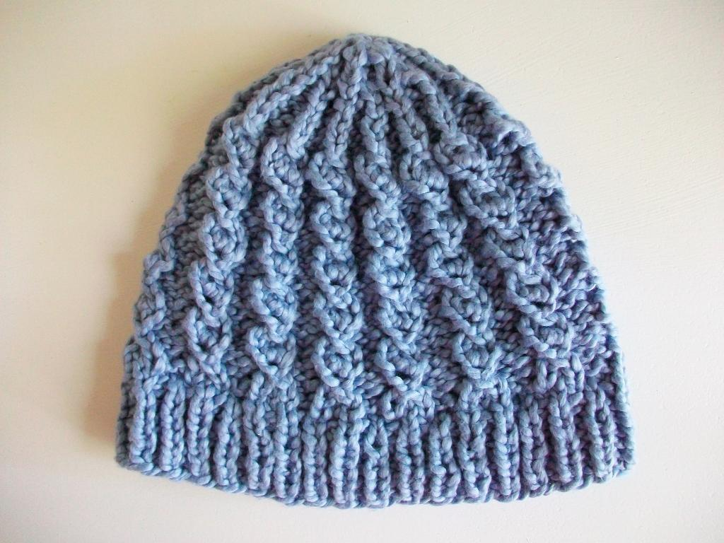 Rustic Twist Hat Knitting Pattern