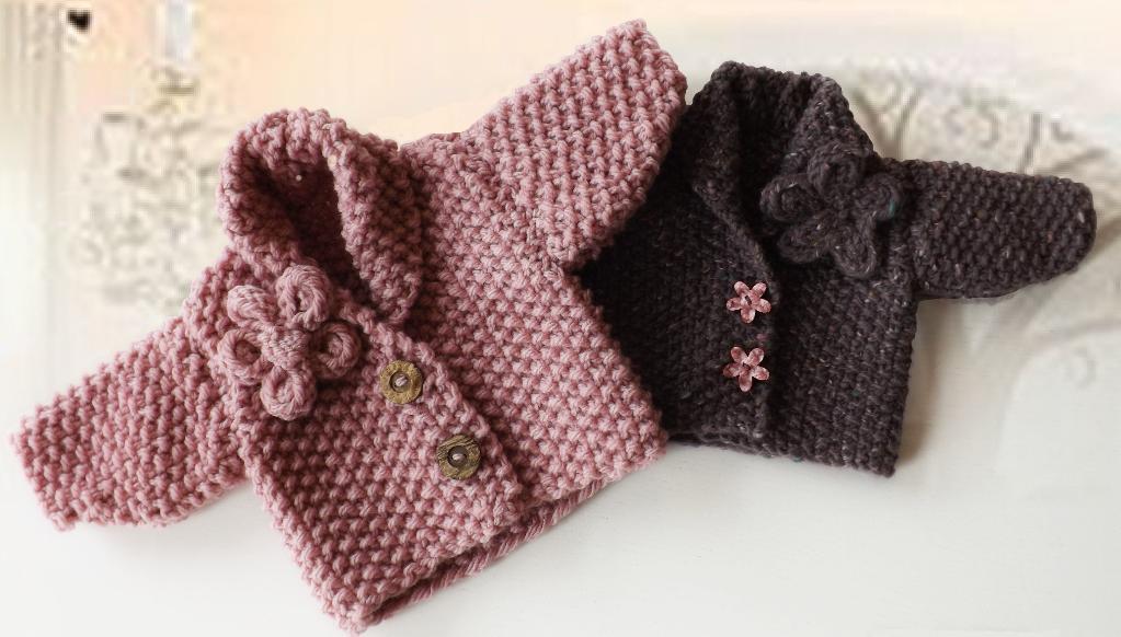 Chunky Knit Moss Stitch Kids Sweater Knitting Pattern