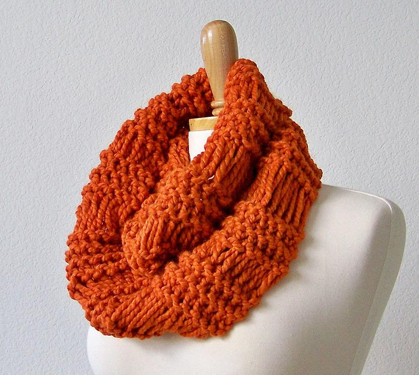Infinity Scarf Cowl Scarf Knitting Pattern