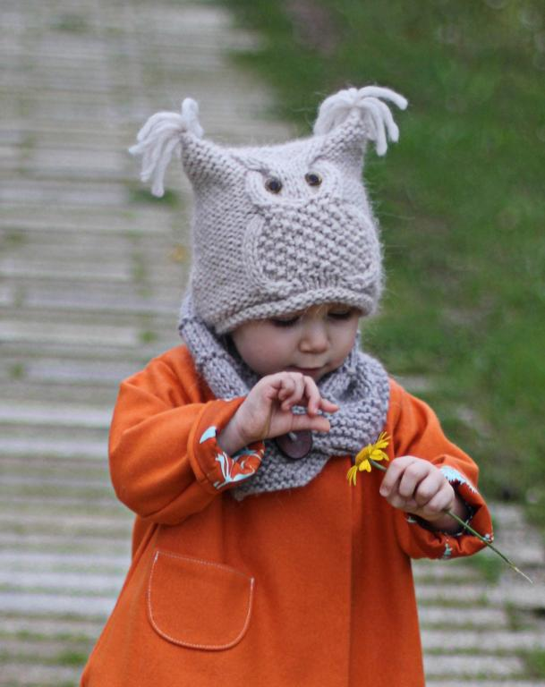 Owl Hat 'Chouette' Knitting Pattern