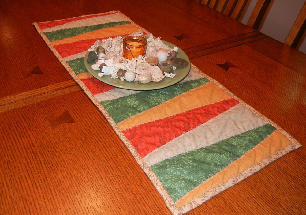 Angled Stripes Table Runner