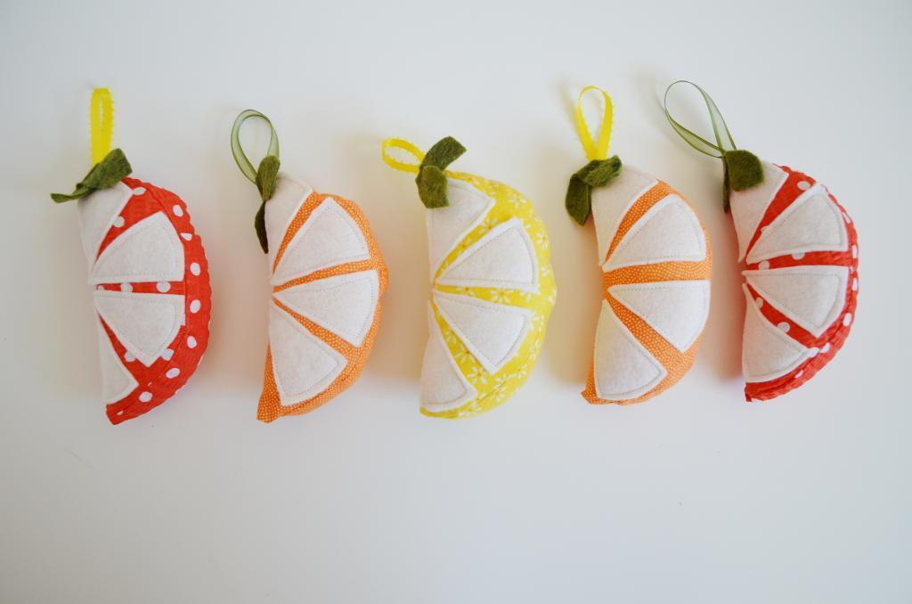 Citrus Pincushion Sewing Template
