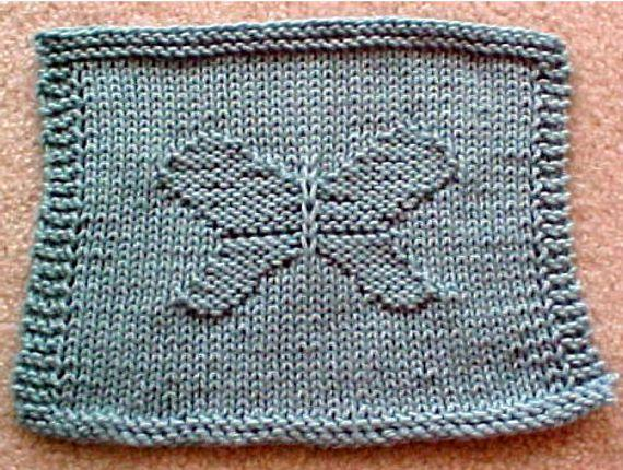 Butterfly Dishcloth Knitting Pattern