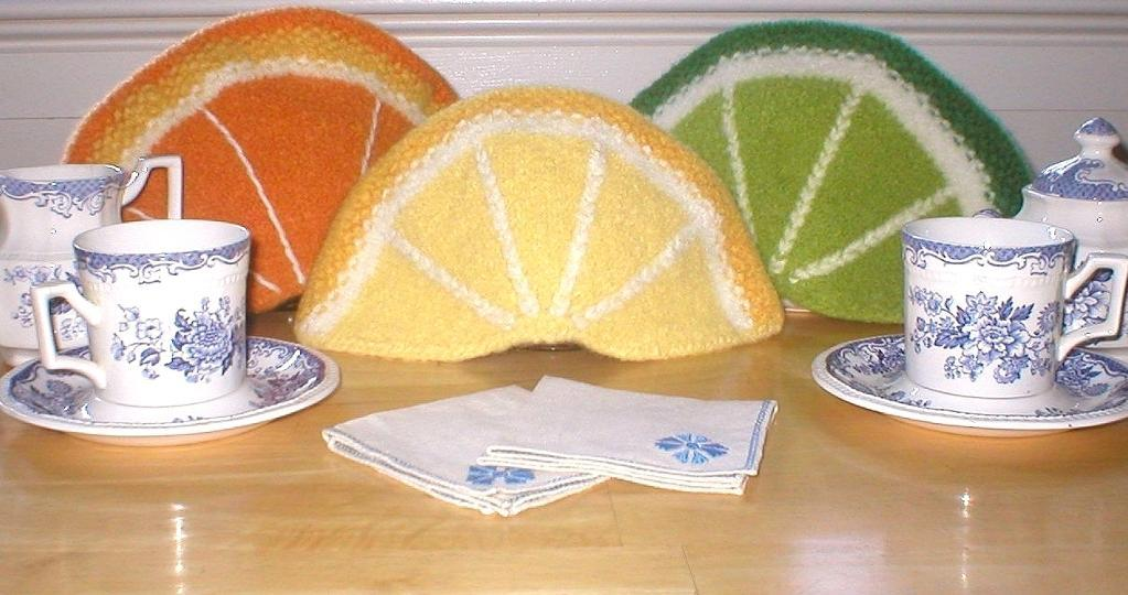Felted Citrus Tea Cozies Knitting Pattern