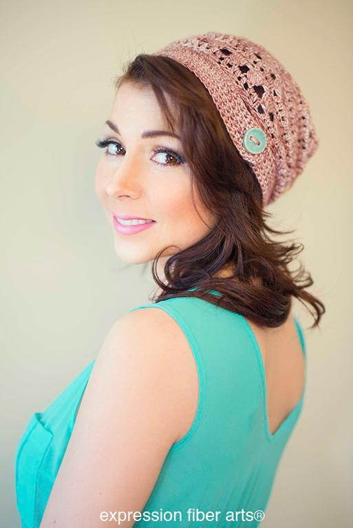 Pink Pearl Slouch Hat