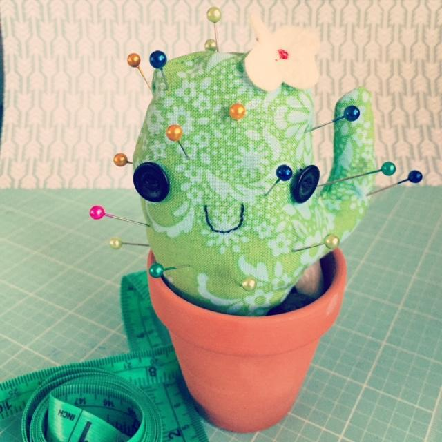 Cactus Pincushion FREE Sewing Pattern