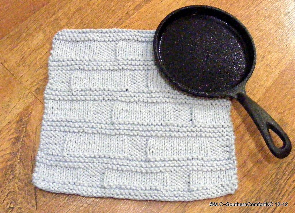Faded Stones Knit Dishcloth Pattern