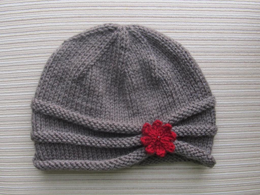 Rolled Brim Hat Knitting Pattern