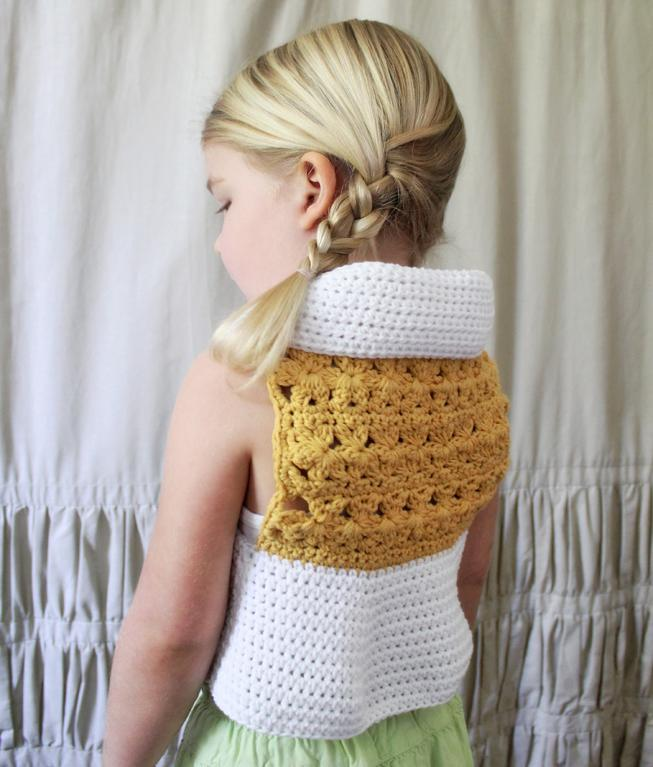 girls crochet vest pattern