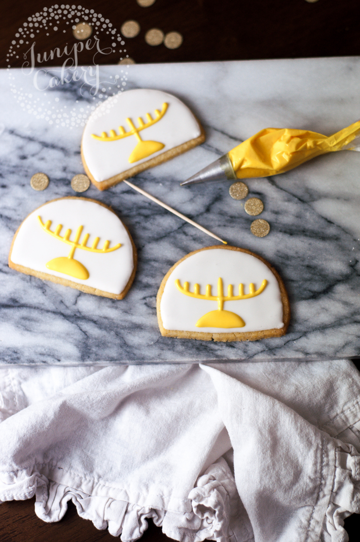 Create Menorah cookies for Hanukkah