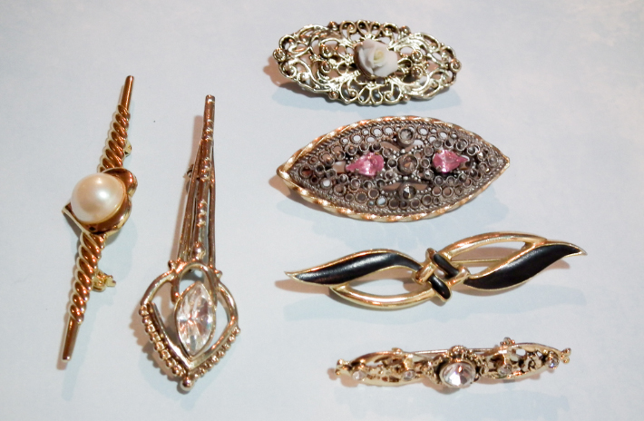 Marquise vintage brooches