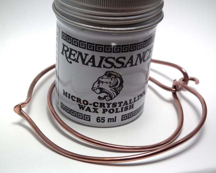 How to Make a Wire Bracelet - wax