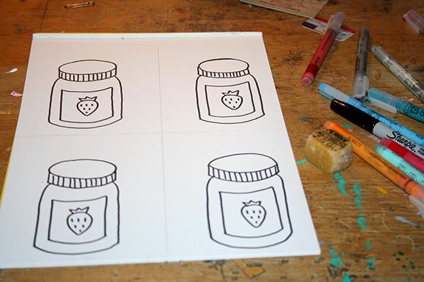 Simple jam jars
