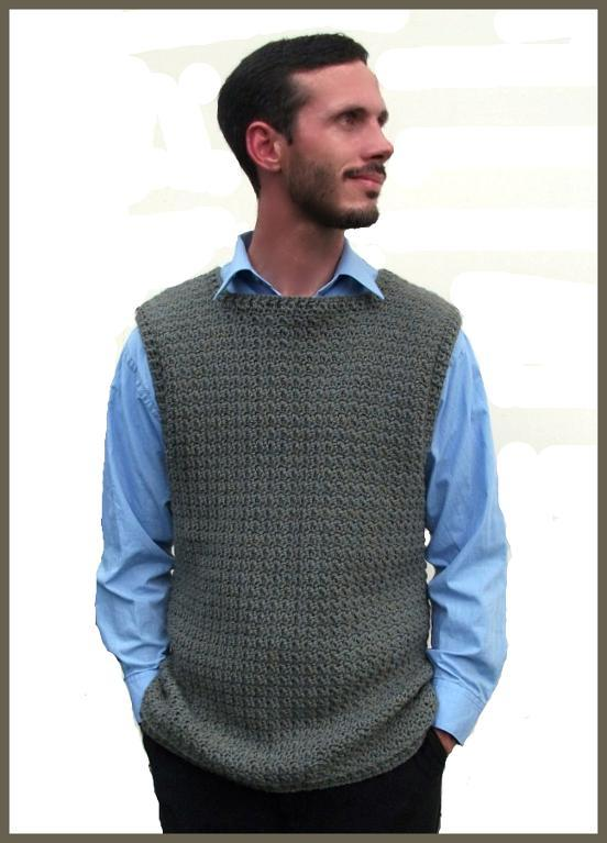 mens crochet vest pattern