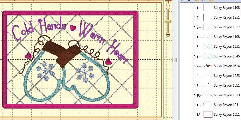 mitten stitchout color stops