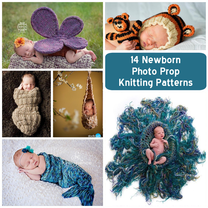 Knitting Patterns for Newborn Photography Props