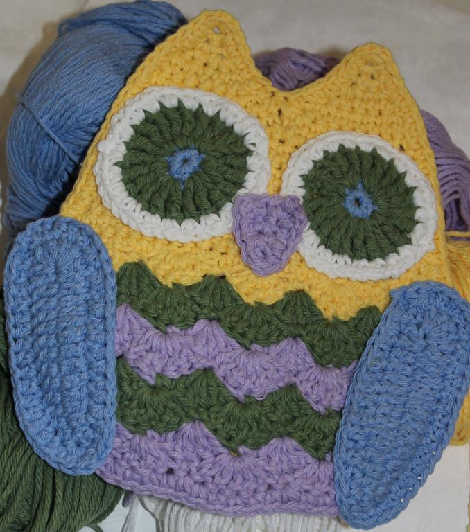 owl hot pad potholder crochet pattern