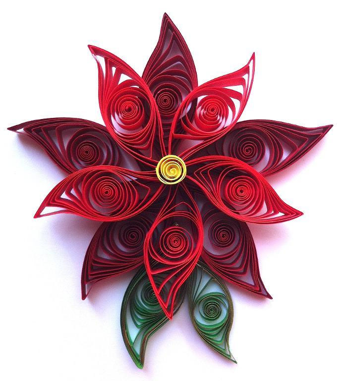 Quilling Poinsettia Flower