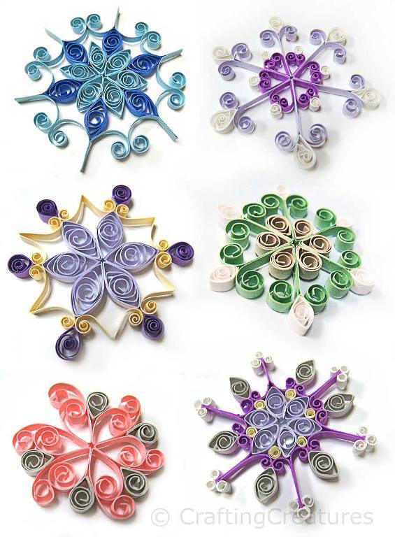 Quilling Snowflakes Grid