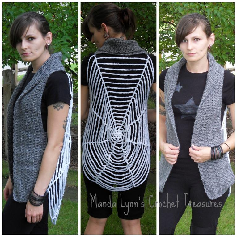 spider web crochet vest pattern