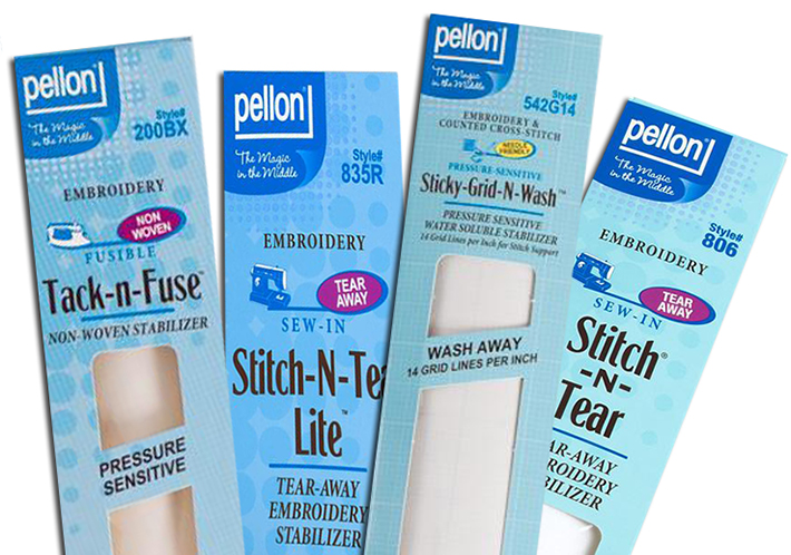 Pellon stabilizers available at Bluprint.com