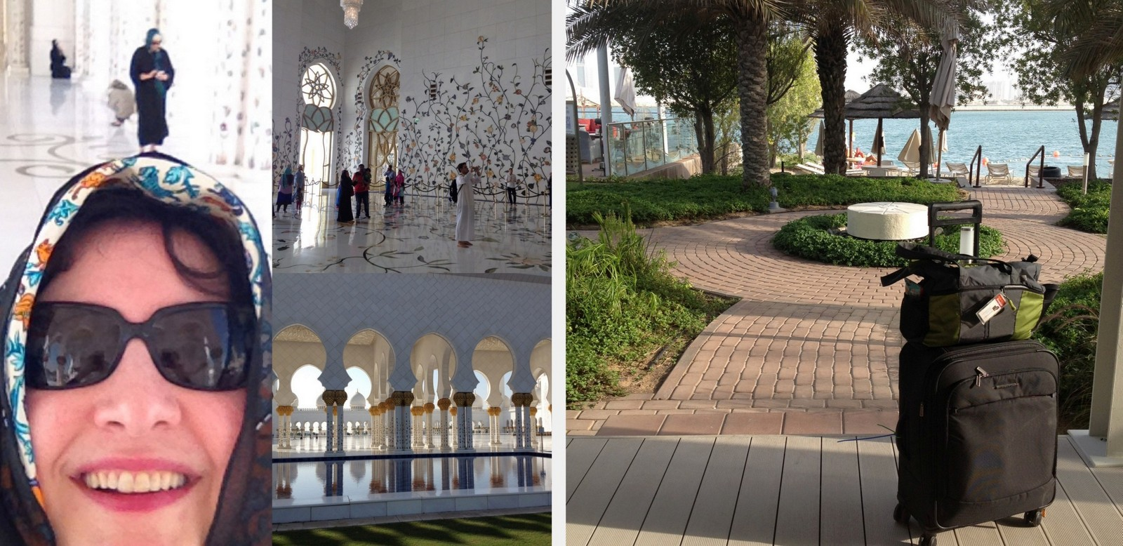 Anita Visits the Sheikh Zayed Grand Mosque; Anita's Quilts Visit the Persian Gulf
