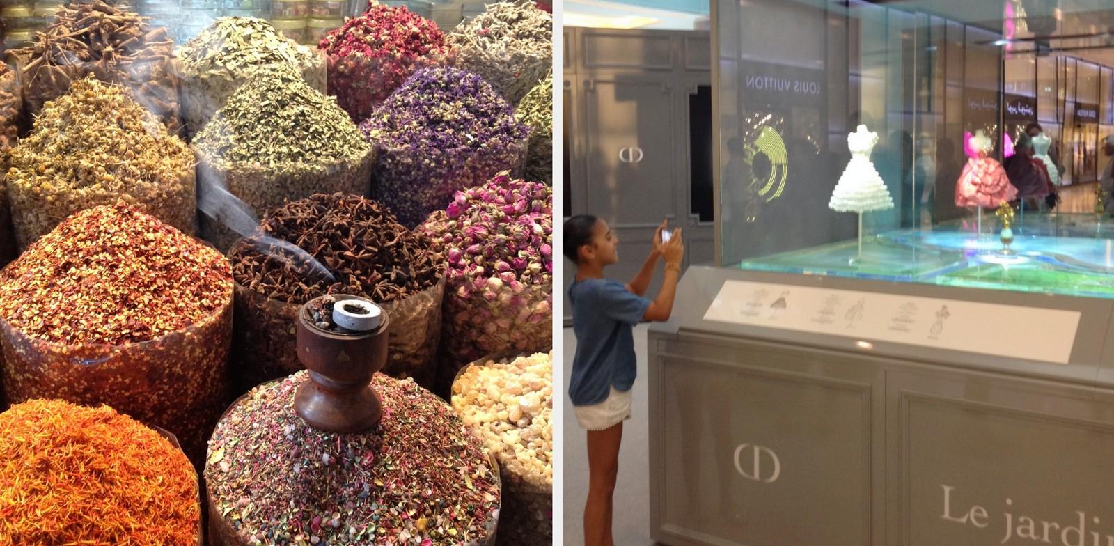 Dubai Spice Souk (market); Dior Theater Exhibition, Dubai Mall