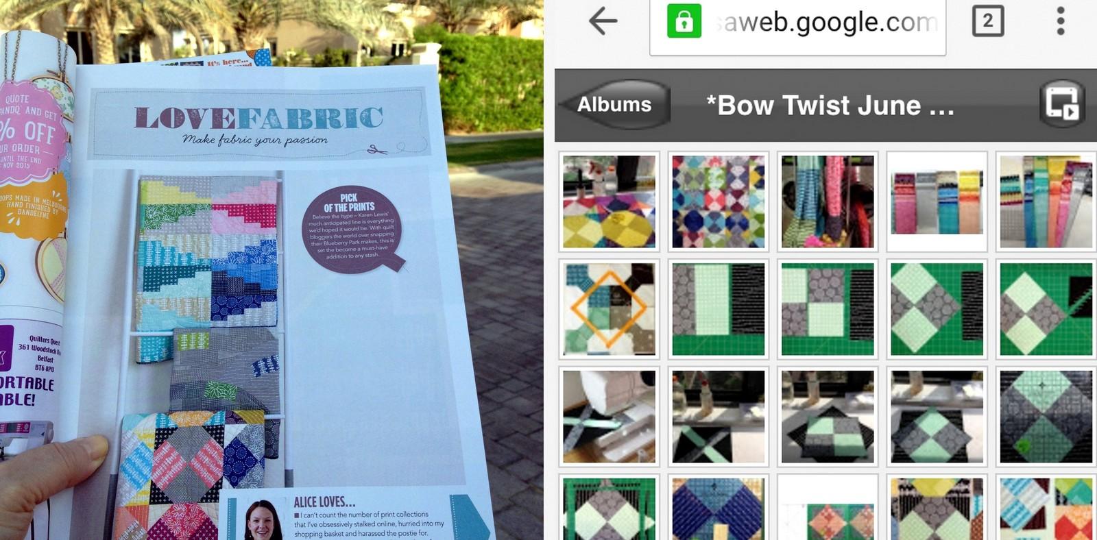 Screenshot of Anita's Bow Twist Quilt Pattern