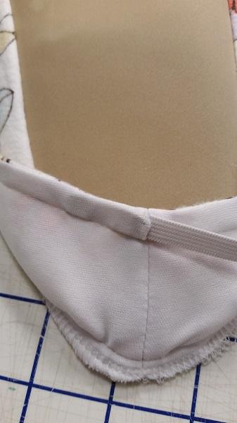 insert elastic thru casing