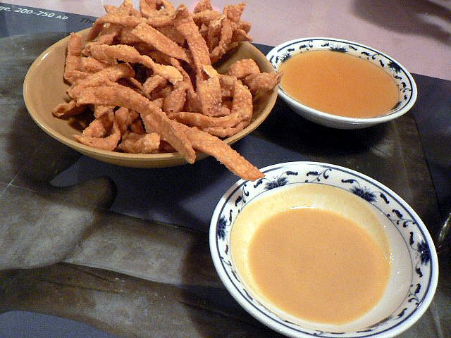 Fried noodles with mustard sauce