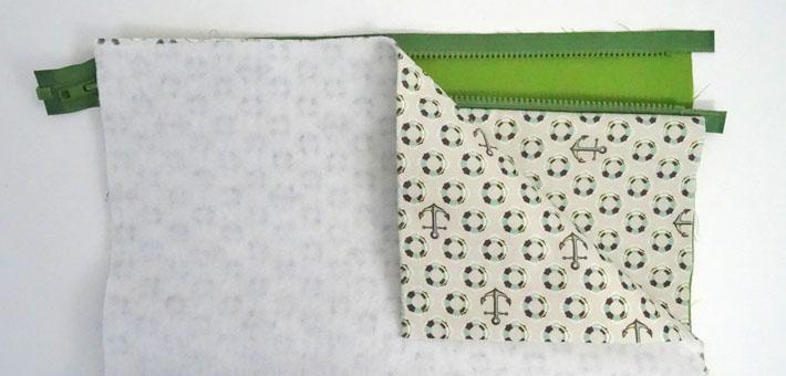 4 Install zipper
