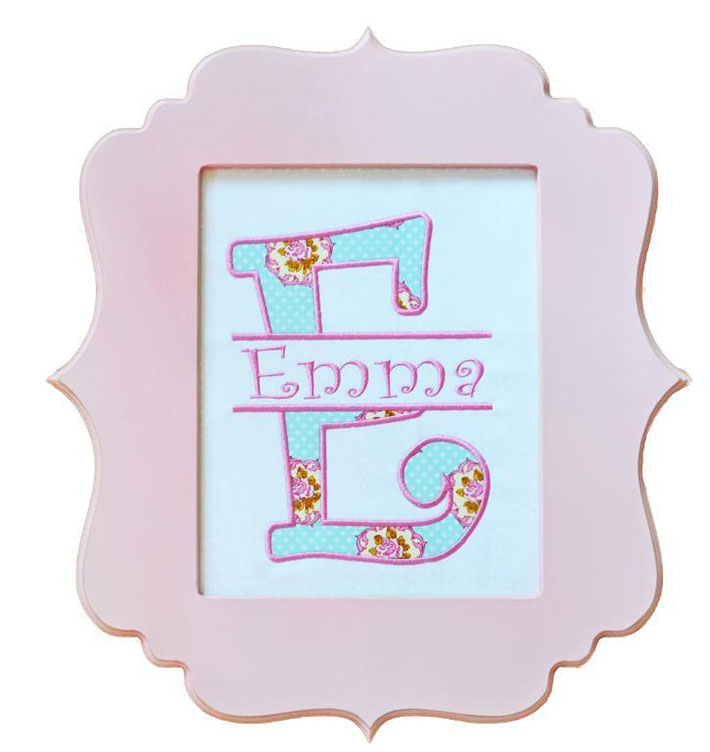 Curlz Split Applique Alphabet Set
