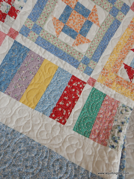 Reproduction 1930's Churn Dash Quilt
