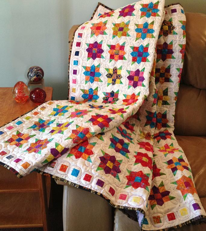 Flowers Squared Quilt pattern